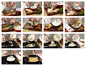 Brötchenrolle als Suppeneinlage für Hühnerbrühe zubereiten