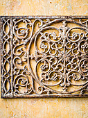 Ornamental wrought iron grille