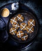 Hot Cross Bun Cookies (eifrei)