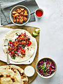 Cajun-Hühnchen-Wraps mit Krautsalat
