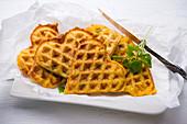 Vegan Hokkaido Pumpkin Potato Waffles
