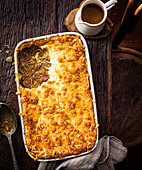 French onion beef pie