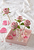 Cake pop roses