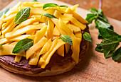 Mango-Schokoladen-Kuchen zubereiten