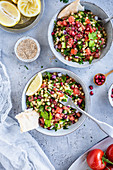 Tabouleh - Lebanese parsley salad with couscous