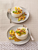 Easter dessert with mango and kiwi