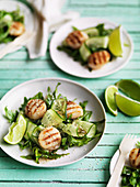 Scallop and rocket salad