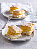 Pastries with pineapple and custard