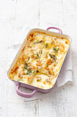 Lasagne with a white rabbit ragout