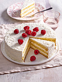 Coconut cake with white chocolate