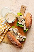 Turkey steak baguette 'Tonnato' with a tuna and caper sauce