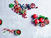 Summer berries, pomegranate and gojiberries