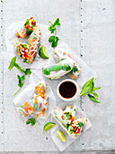 Rice paper roll variety