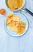 Sour cream crepes with Seville orange marmelade and amaretto