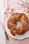Sweet Easter wreath with marchpane