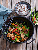 Thai chicken wok