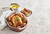 Spring chicken with herb stuffing