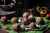 Candied fruit laddu