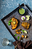 South Indian style grilled chicken breast
