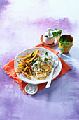 Barley risotto with carrots, parsnips and goat's cheese