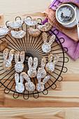 Decorated Rabbit Shortbread Cookies