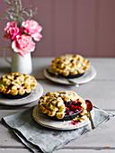 Bramley and blackberry pie