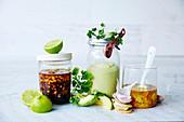 Vegan dressings - Peanut, Green Goddess Tahini Yoghurt, Ginger-Tumeric