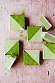 Vegan matcha mint slice
