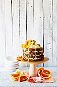 Vegan citrus poppy seed celebration cake