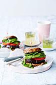 Vegan brekkie mushroom burger
