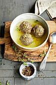 Venison liver dumplings
