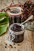 Homemade elderberry jelly