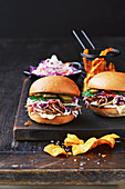 Slow-cooker cola pulled pork burgers
