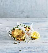 Lemon, thyme and feta muffins