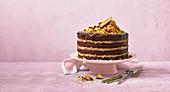 Chocolate crunchie cake