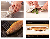 How to roast a whole trout in an oven until crispy