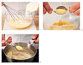 Preparing semolina dumplings