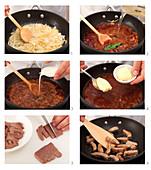 Preparing sour liver