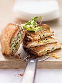 Herb roast chicken sandwiches