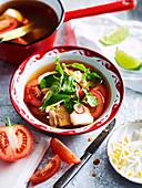 Vietnamese tomato and chilli fish soup