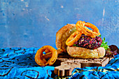 Beetroot mixed seed burger