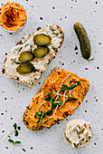 Chickpea spread sandwich