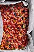 Confierte Tomaten auf Ofenblech