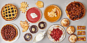 Various autumnal sweet pies and tarts