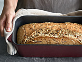 Nut bread baked with carrots