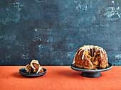 Monkey Bread mit Karotten, angeschnitten