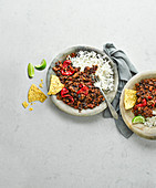 Slow Cooker Chili Con Carne mit Reis