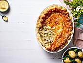 Chicken Pot Pie mit Frühlingsgemüse