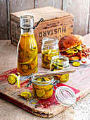 Hausgemachte Bread And Butter Pickles