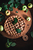 Apple calvados pie